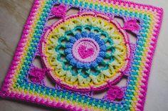 Crochet Ripple, Granny Square Crochet Pattern, Crochet Squares, Crochet Granny, Granny Squares, Crochet Motif, Crochet Yarn, Heart Granny Square, Afghan Crochet Patterns