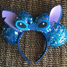 Stitch inspired Minnie Mouse Ears.
