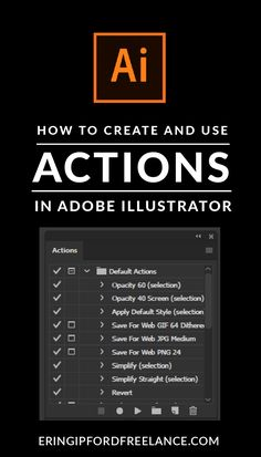 Knowing how to use and create actions inside Adobe Illustrator can help streamline those repetitive, time consuming tasks that you have to do over and over again. I'll show you how to create your own actions and how to use the existing default actions. Web Design, Graphic Design Tutorials, Tool Design, Graphic Design Inspiration, Vector Design, Adobe Illustrator Tutorials, Photoshop Illustrator, Ai Illustrator, Tutorials