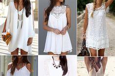 Fashion Trend Watch: Weiße Sommerkleider Meinen Favoriten habe ich bei SammyDress gefunden. #fashion #dress #summer