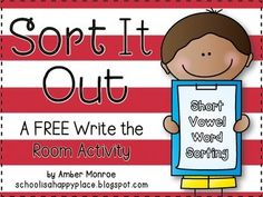Sort It Out is a great way to get your students moving and to practice their word analysis skills.  This activity features differentiated short vowel word cards and short vowel word/picture cards for you to place around the room.  Students will then read and sort the words onto their recording sheet. Be sure to contact me if you have any questions. Happy teaching!