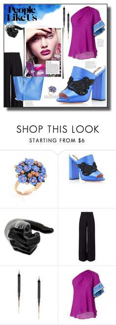"""Untitled #1396"" by sugarmoonmama ❤ liked on Polyvore featuring WithChic, Rochas, Miss Selfridge, GUESS by Marciano, Emilio Pucci and Alexander McQueen"