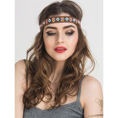 Choies Multicolor Beaded Geo-tribal Embroidery Headband ($6.99) ❤ liked on Polyvore featuring accessories, hair accessories, multi, embroidered headbands, beaded headwrap, hair bands accessories, head wrap headband and head wrap hair accessories