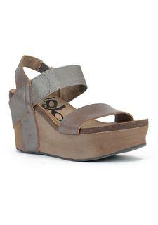 OTBT Shoes Bushnell Slingback Wedge, Pewter
