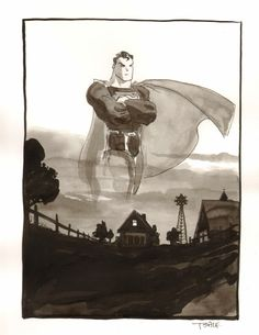 Superman by Tim Sale ECCC 2013 Comic Art