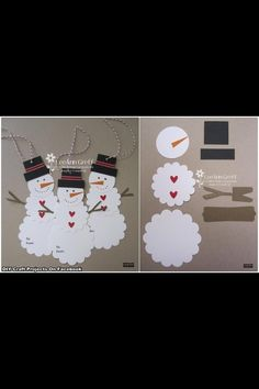 cute snowman tags.....from scallop circles of cardstock....going to dig my Big Shot out and make some of these...keyyyy-ute
