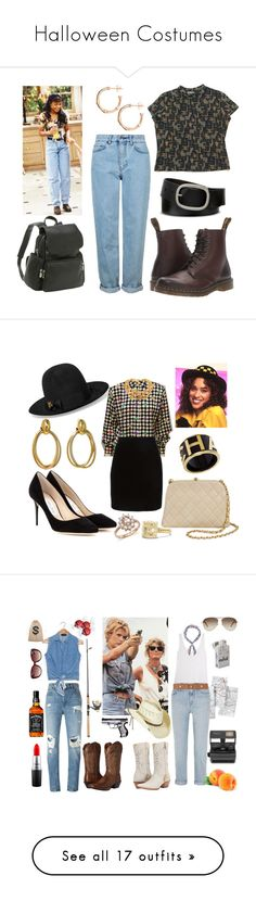 """""""Halloween Costumes"""" by theblockvintage ❤ liked on Polyvore featuring Topshop, Dr. Martens, Mixit, Dinny Hall, Le Donne, Gucci, Thierry Mugler, Jimmy Choo, Cartier and Chanel"""