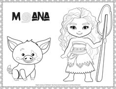 Exclusive Free Disney Moana Printables