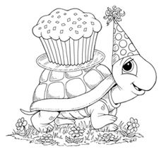 Birthday turtle I found and I would like to use this little guy for a pattern for fabric Applique, adding applique to a Quilt Block for baby..                                                                                                                                                      More