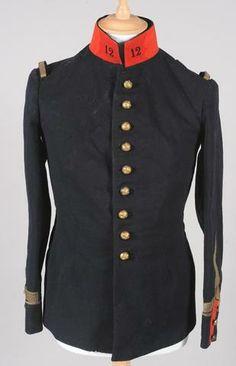 Tunique modèle 1893/10 de sous-officier du 12ème Regt d'Artillerie