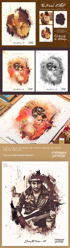 The Mask Effect - Artistic FX Photo Template #photography #psd Download: http://graphicriver.net/item/the-mask-effect-artistic-fx/13226057?ref=ksioks
