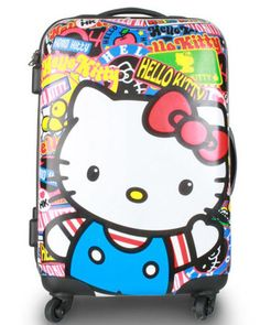 I need a new skate bag※ New LOUNGEFLY Carry On HELLO KITTY Travel Luggage rollercase SANRIO Hard Case