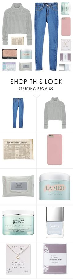 """""""i thought i felt your touch, but the water's rising up"""" by kristen-gregory-sexy-sports-babe ❤ liked on Polyvore featuring T By Alexander Wang, Stila, La Mer, philosophy, Butter London, Dogeared and Laura Ashley"""