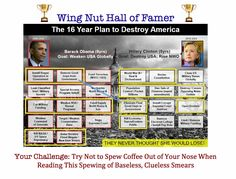 """This is a Timeless Hall of Famer from the Wing Nuts and Clearly shows how delusional and uninformed they are. The description from the original pin, wait for it... """"Time to use critical thinking skills"""""""