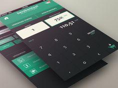 calculator / search screen by Sebastiaan Scheer (Netherlands)
