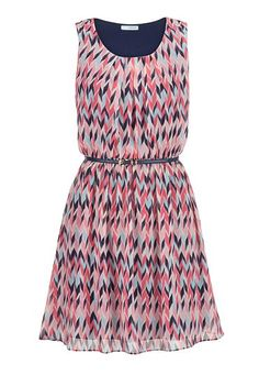 multicolor herringbone dress with belt (original price, $44) available at #Maurices