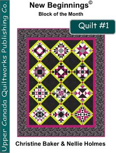 New Beginnings BOM Quilt #1 Pattern download is now available on Craftsy