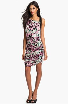 I actually like the floral print in this dress + the left shoulder strap is a nice touch of edginess.  Never knew Jessica Simpson made cute/chic dresses ($128)!