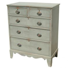 Antique Repainted Chest of Drawers Seller English Country Antiques