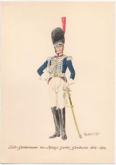 Naples; Royal Guard, Elite Gendarmes, Gendarme, 1812-13