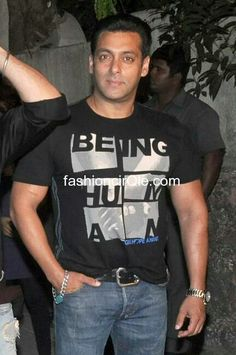 #Salmankhan in Being Human in Black T-Shirt #BHC