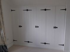 Custom made fitted wardrobes designed and made by Whitewood in a cottage style Large Living Room Furniture, Fitted Bedroom Furniture, Fitted Bedrooms, Kitchen Furniture, Bedroom Storage, Bedroom Sets, Home Bedroom, Bedroom Wardrobe, Built In Wardrobe