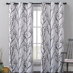 Southold Nature / Floral Max Blackout Grommet Single Curtain Panel
