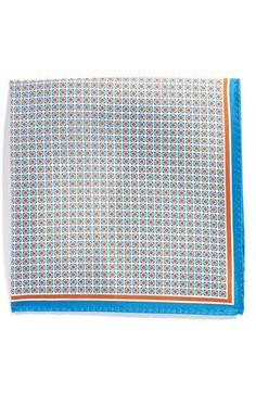 Men's Ted Baker London Silk Pocket Square - Blue
