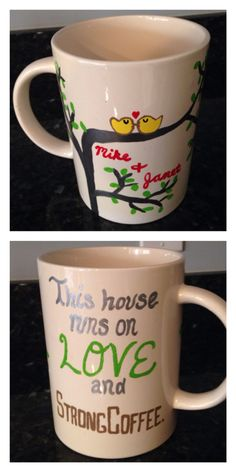Giant coffee mug I painted for my grandma.