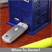 A TARDIS USB hub? This would make charging my phone at work at lot more fun!