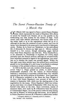 franco russian agreement