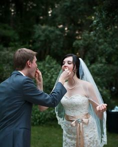 Designer/Planner: Dandy Details Events Nervous Cake Cutting Funny Cake Cutting Feeding Each Other Cake
