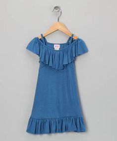 Love this Royal Ruffle Dress - Girls by Plum Pudding on #zulily! #zulilyfinds