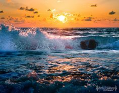 Ocean at sunset - There is nothing more beautiful.  Look at the colors in the water.