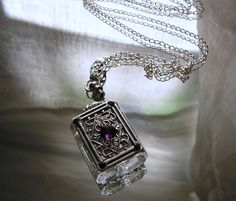 Crystal Perfume Or Essential Oil Bottle Necklace