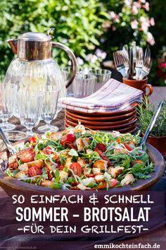 Mediterraner Brotsalat - einfacher & schneller Sommersalat - Für dein Gartenfest & Grillfest - www.emmikochteinfach.de