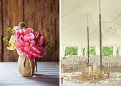 Tischstyling Hochzeit Gläser