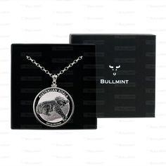 2012 Australian Silver Koala 1oz Pendant- COIN EDGE in a Bullmint display box