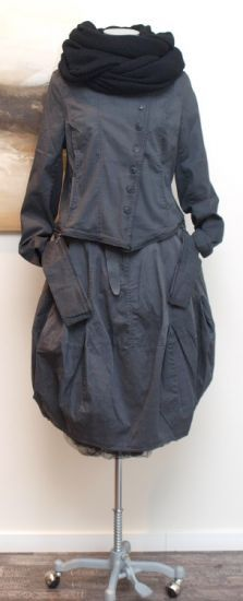 rundholz black label - Ballonrock Cotton Stretch anthra - Winter 2014 - stilecht - mode für frauen mit format...