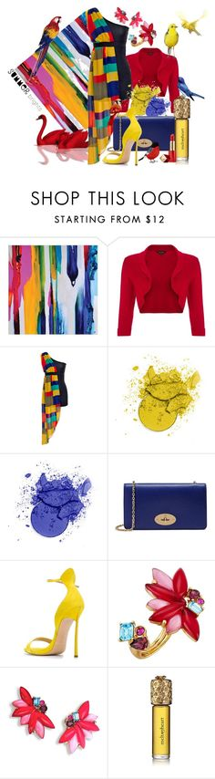 """======"" by elona-makavelli ❤ liked on Polyvore featuring Phase Eight, jon & anna, Mulberry, Casadei, Oscar de la Renta, Strangelove NYC and Estée Lauder"