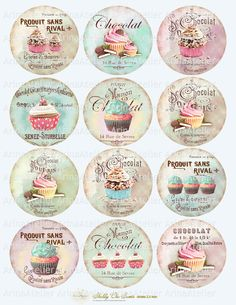 Sweet Cars 151363237451747406 - Shabby chic Sweets Circles Micro slides Source by littlepotato Images Vintage, Vintage Diy, Vintage Labels, Vintage Paper, Shabby Vintage, Vintage Cupcake, French Vintage, Vintage Ephemera, Paper Art