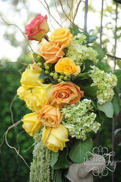 Flowers- grey & green wedding