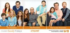 TGIMF! Which Modern Family parents are most like your own & why?  Give thanks for Modern Family Friday, tonight at 8/7c. Gather your own fam. for a night of laughs and see your tweets live on air!
