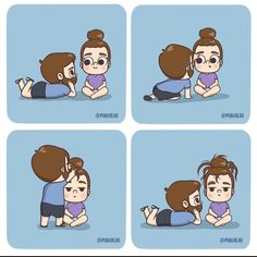 Love Cartoon Couple, Cute Couple Comics, Couples Comics, Cute Love Cartoons, Sweet Love Story, Cute Love Stories, Cute Love Images, Cute Love Gif, Cute Funny Quotes