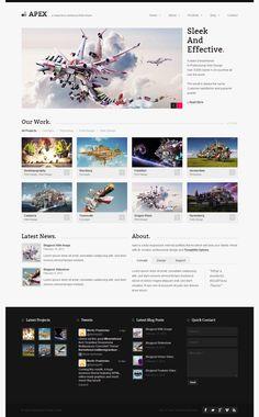 #Web #design #inspiration #responsive #wordpress #themes  View detail(bit [dot] ly/13ZDprI)