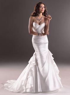 vestido de noiva tomara que caia corte a modelo 1