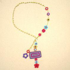 Coco Long Crochet Motifs Necklace. $185.00, via Etsy.