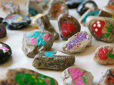 make your own story stones Give each child 7 rocks and have them draw things on the rock for the 7 days of creation