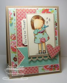 Stamping A Latte: You're So Tweet {MFTWSC52}!  Like the layout