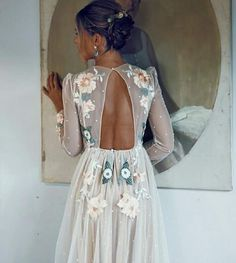Boldly Boho: Embroidered Wedding dresses with Colourful Florals Embroidered wedding dresses colourful embroidery bridal trend Boho Wedding, Wedding Gowns, Autumn Wedding, Wedding Venues, Backless Wedding, Wedding Flowers, Wedding Ceremony, Wedding Summer, Boho Bride